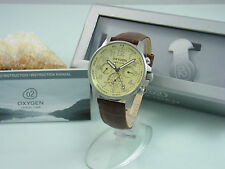 OXYGEN DUAL TIME CHRONO DAY DATE HERRENUHR | UNGETRAGEN + BOX | GELB