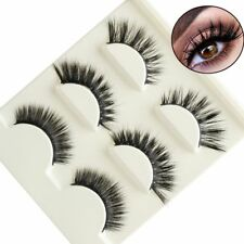 3Pairs Multipack  3D Mink Hair False Eyelashes Thick Long Lashes Extension Tool