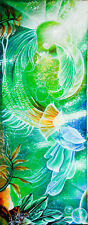 Cuban Artist Rubio Original Painting on canvas  15 1/2 x 39 1/2