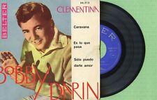 BOBBY DARIN / Clementina, Darte Amor / BELTER 50.313 Pressing Spain 1960 EP VG
