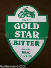 BEER PUMP CLIP - GOLD STAR BITTER FOR ROAD RIDERS