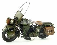 Vintage Military Harley Motorcycle Metal Diecast Iron Moto Model Toy Collectible