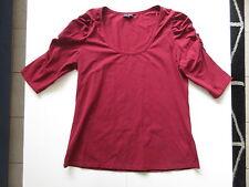 Women's CITY CHIC Sz S / 16 AU Short Sleeve Top Maroon VGCon | 3+ Extra 10% Off