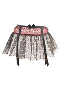Agent Provocateur Women's Unique Skirt Imitation Suspender Black S RRP£150 BCF88