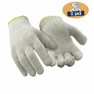 RefrigiWear Lightweight Cotton String Knit Glove Liners Natural (12 Pairs)