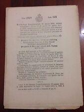 D20  anno 1919 n. 823 Decreto-Legge Luogotenenziale 27 marzo 1919