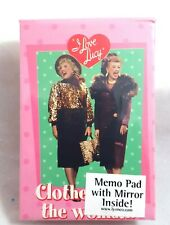 I LOVE LUCY Lucille Ball MEMO PAD and MIRROR Purse Pocket Size New