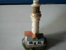 "Vintage Flat Holm Island, Wales 5"" Resin Lighthouse Figurine Rare"