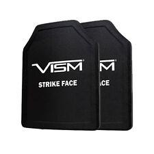 "VISM Ballistic UHMWPE Soft Panel Shooters Cut 11""X14"" Body Armor Level IIIA SET"