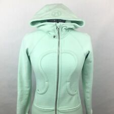 Lululemon Scuba Hoodie Stretch Women's Sz 2 Mint Moment Yoga Run Sweatshirt