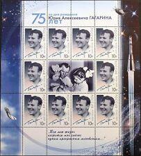 Russia rusia 2009 klb 1536 75 Zorn Yuri Gagarin cosmonauta viajes espaciales space mnh