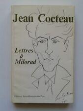 """Jean COCTEAU """" Lettres à MILORAD """" E.O. avec ENVOI de MILORAD, 1975"""