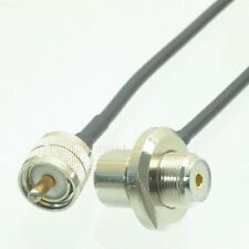 PL259 UHF to SO239 bulkhead for car radio Mobile Antenna Mount RG58 cable 10FT