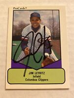 Jim Leyritz Signed 1990 Columbus Clippers Card # 331