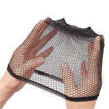 Cheap 1 pcs colors stretchable elastic hair nets snood wig cap cool mesh black