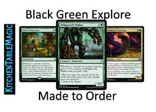 MTG Black Green Explore Counters - Made to Order - Custom Deck