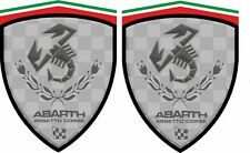 Fiat 500 / 595 / 695 Abarth Assetto Corse wing Decals / Stickers 70mm tall x2