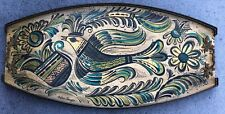 Vintage Hand-Painted Decorative Tray With Reticulated Edges (Signed)
