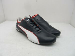 Puma Men's Future Cat S2 BMW Motorsport Leather Shoes Navy/White/Red Size 9M