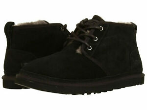 Men UGG Neumel Lace Up Suede Boot 3236 Black Twinface 100%Authentic Brand New