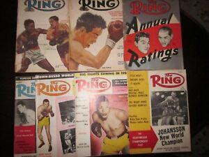 (7) 1954 1959 Ring Magazines - Rocky Marciano  Ingemar Johansson -Fair