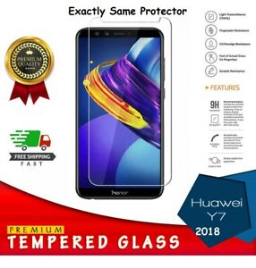 Huawei Y7 2018 - Tempered Glass Screen Protector Premium Protection