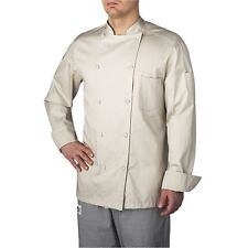 New Chefwear Organic Cotton Traditional Chef Coat Natural