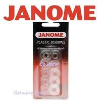 JANOME SEW MINI 525 145m SEWING MACHINE QUALITY PLASTIC BOBBINS x 10 (GENUINE)
