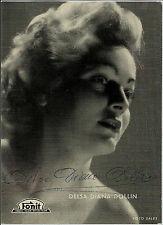 1954 FOTO CON AUTOGRAFO DI DELSA DIANA DOLLIN 2° FESTIVAL CANZONE NAPOLETANA