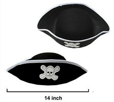 DELUXE PIRATE HAT pirates dress up costume hats caps pirates novelty new