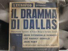 """ENZO BIAGI / SERGIO ZAVOLI - IL DRAMMA DI DALLAS 45 GIRI 7"""" EP PROMO KENNEDY"""
