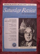 Saturday Review June 10 1944 UPTON SINCLAIR DOROTHY THOMPSON