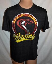Shelby Cobra Racing Vintage Logo Graphic Mens T Shirt Size L Gray Red Yellow