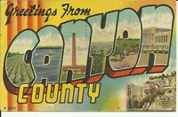 Greetings From Canyon County Idaho 1956 Nampa Large Letter Postcard