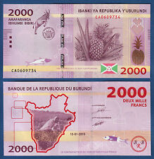 BURUNDI 2000 Francs  2015  UNC  P. 52