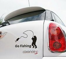 About fishing decal sticker vinyl car truck semi-large graphics stern door windo