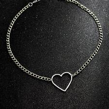 Metal Heart Choker Necklace Collar Punk Harajuku Goth Chain