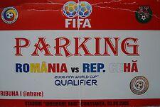 TICKET Parking 3.9.2005 Romania Rumänien - Tschechien Czech Republic