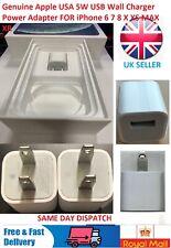 Genuine Apple 5W USB Wall Charger Plug Power Adaptor USA iPhone  5 6 7 8 X XR