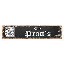 SPFN0500 The PRATT'S Family Name Street Chic Sign Home Decor Gift Ideas