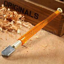 Diamond Tip Steel Blade 5-12mm Oil Feed Glass Cutter Plastic Handle Cutting Tool