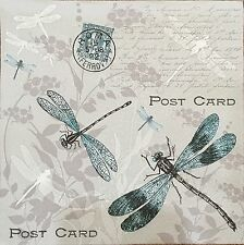 2 single paper napkins decoupage crafts collection dragonfly Text
