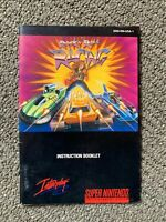 SNES Rock n' Roll Racing Instruction Booklet Manual Only *Authentic* *No Game*