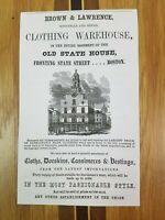 1851 Boston Massachusetts Advertisement JA Cummings Surgeon Jewett Booksellers