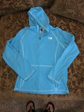 North Face Girls Zip Up Hoodie Size Extra-Large Blue