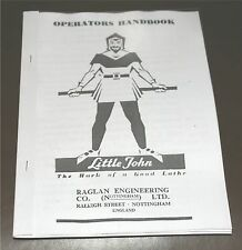 Raglan LittleJohn Lathe Manual
