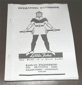Raglan LittleJohn Lathe Manual