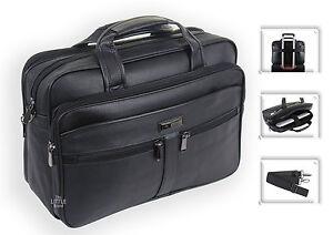 Mens Black Laptop Bag Business Briefcase Messenger Satchel Work Office Bag 181