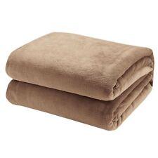 Blanket Throw 40x60 Caramel Super Warmth Soft Comfort Cozzy Bed Sofa Microfiber