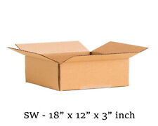 "20 MOVING BOX Single Wall Cardboard 18x12x3"" in NEW Removal Packing Shipping"